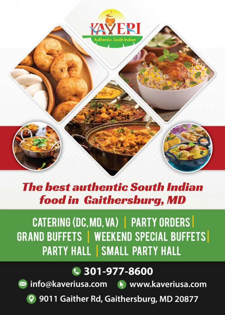 Kaveri Indian Restaurant in Maryland